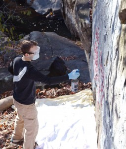 Edwin Removing Grafitti