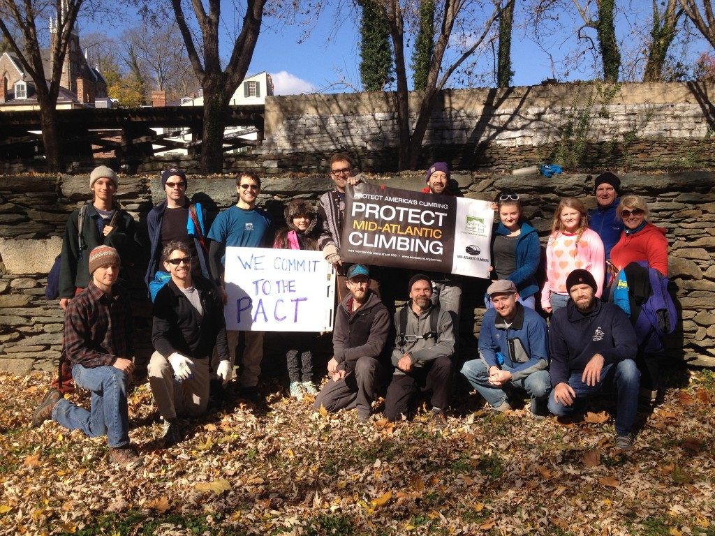 Volunteers at the first Harper's Ferry National Historic Park  Adopt-a-Crag