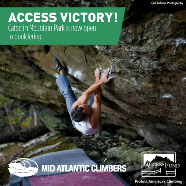 Access Fund and Mid Atlantic Climbers Work with NPS to Open Climbing at Catoctin Mountain Park