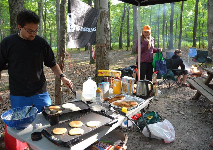 Pancake breakfast thanks to Solid Rock Climbers for Christ.
