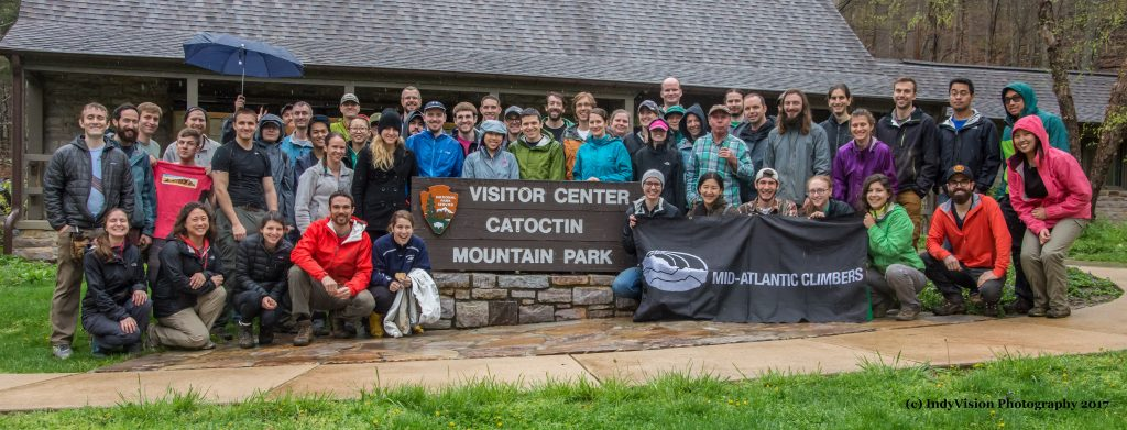 Catoctin Mountain Park & Cunningham Falls Park Adopt-a-Crag, April 22, 2017. Photo Credit: IndyVision Photography
